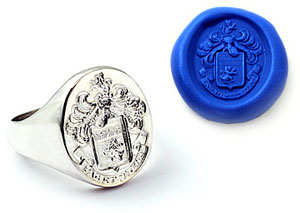 Hand Engraved Family Crest Ring